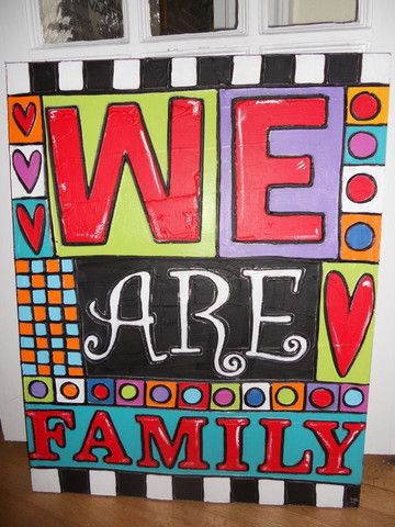 We are family, Jenny Murphy designs