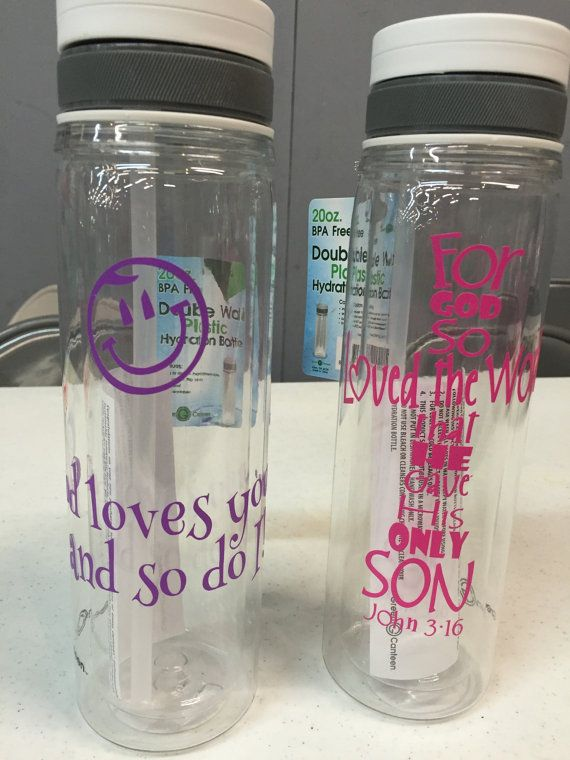 20 oz BPA Free Religious Water Bottles/Gifts For Her/Custom Water Bottles/Custom Drink  ware/Religious Sayings Bottles
