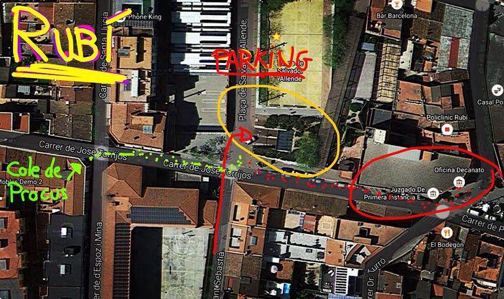 La mejor ruta en coche para ir a los #Juzgados de #Rubí es apuntando a la Plaza Salvador Allende, donde hay un Parking. Luego, andando se llega perfectamente tanto a los #Juzgados (del 1-6) como al #Colegio de #Procuradores y de #Abogados. #ruta #trabajoenequipo #tribunales #barcelona #partidosjudiciales