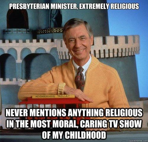 He was an ordained minister, but decided to take his messages of love and friendship to TV instead.