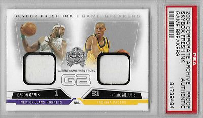 2004 Fleer Skybox REGGIE MILLER BARON DAVIS CORPORATE ARCHIVE FLEER PROOF PSA
