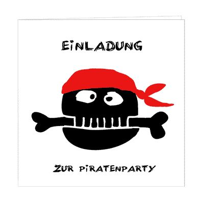 Coole Piraten Einladung   Einfach Kostenlos Downloaden Und Ausdrucken! Free  Printable   0 U20ac