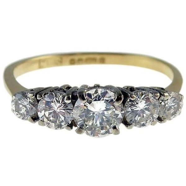 1238 liked on polyvore featuring jewelry rings engagement rings multiple diamond rings diamond band ring pre owned engagement rings preowned - Preowned Wedding Rings