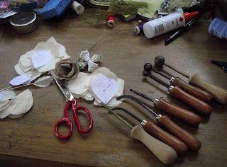 Amor Gorras: Cómo hacer flores de seda - El primer bit - rigidez del tejido ...