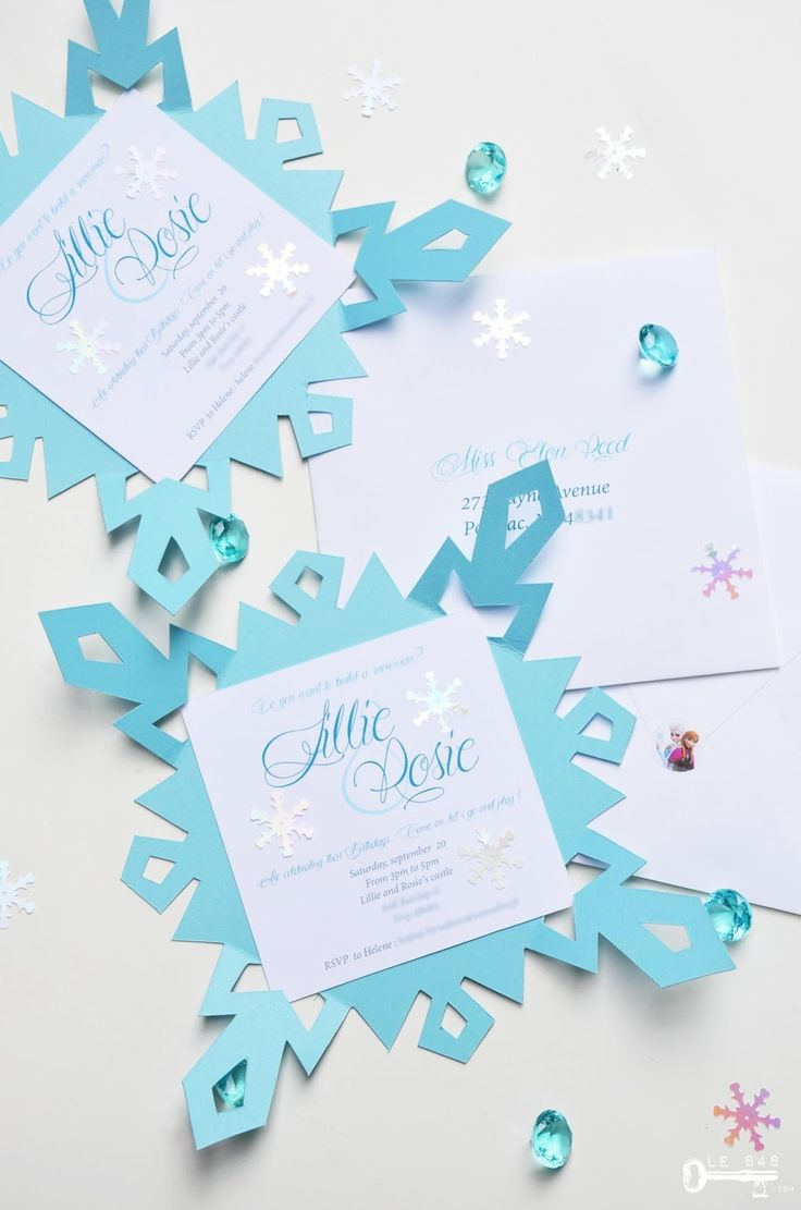 Le 848: { La Reine des Neiges } DIY Invitations flocons