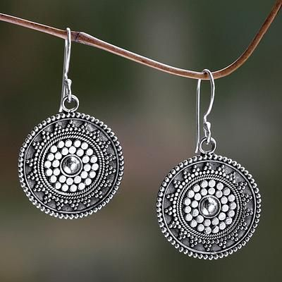 Sterling silver dangle earrings, 'Indonesian Sun'. Shop from #UNICEFMarket and help save the lives of children around the world.