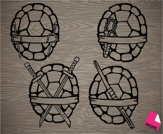 pick your favorite ninja turtle shell vinyl decal sticker
