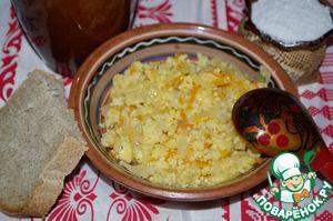 Каша пшенная с квашеной капустой - кулинарный рецепт