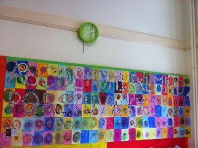 Wall display on Kandinsky.