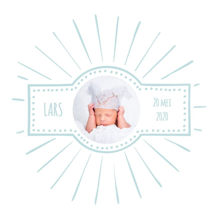 Lief, schattig, hip en retro geboortekaartje met ruimte voor je eerste baby foto's. Makkelijk te maken, lukt altijd. Let op, pas alle teksten aan!