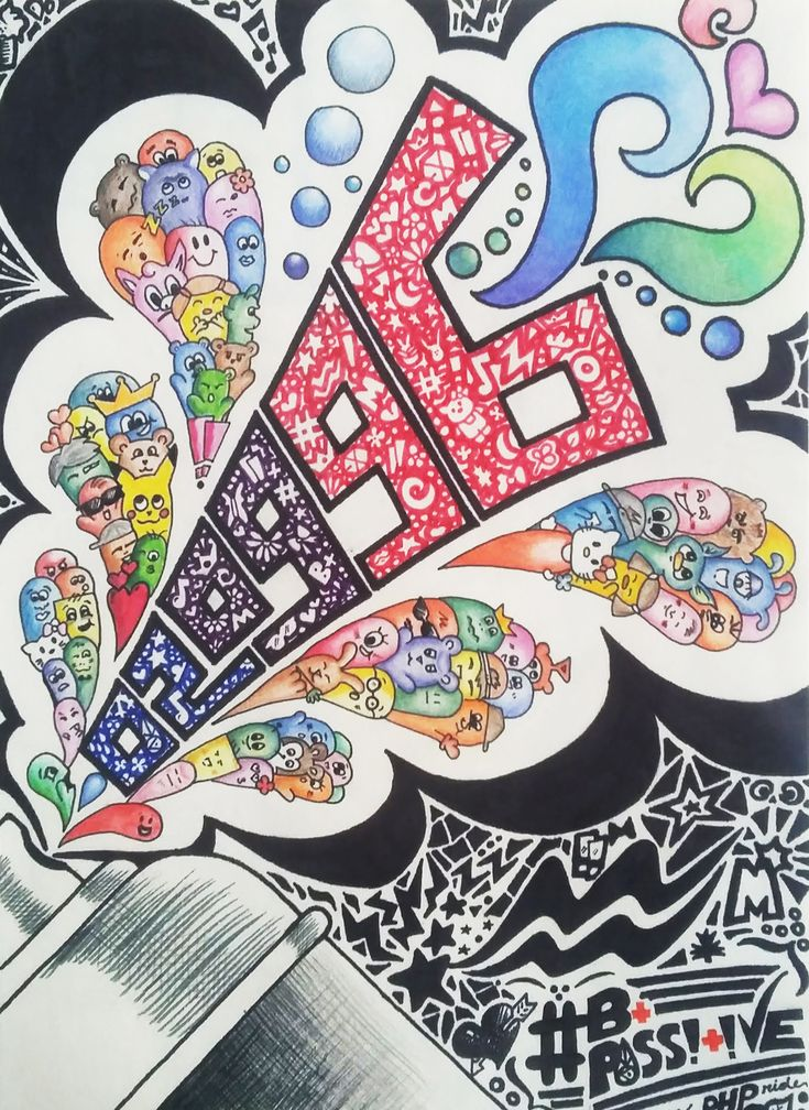 I was inspired by an artist I follow on instagram, @vexx_art. The numbers, 02.09.96 is my birthdate. I made it colourful representing my happiness doing something that I love, art.