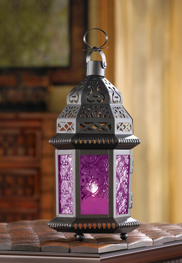 Mulberry Glass Moroccan Style Lantern