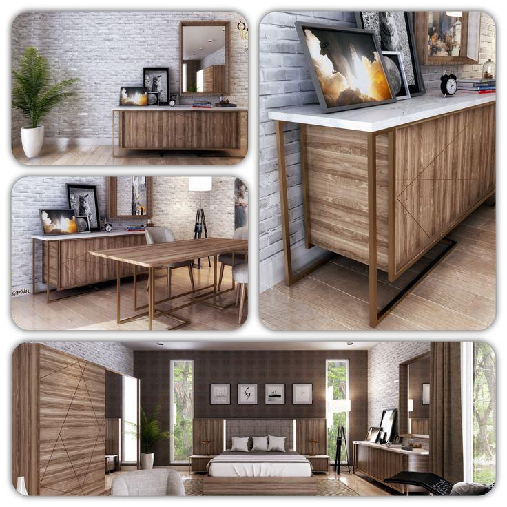 Tasarım yatak odası modeli...