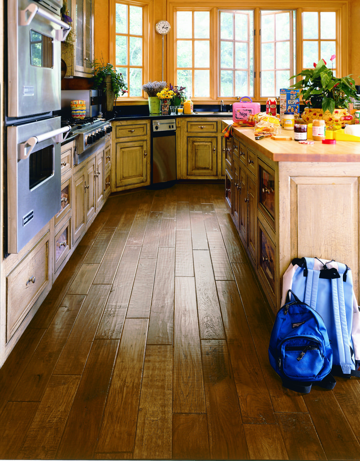The Hardwood Floors Really Help Warm This Kitchen Up!