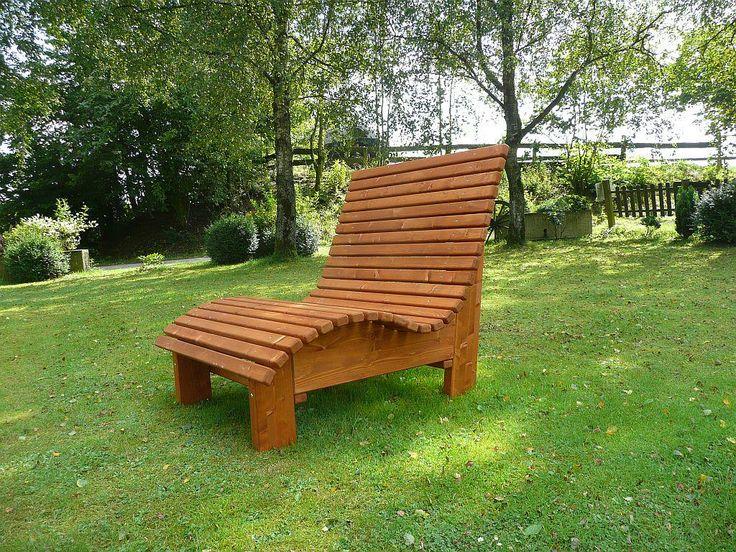 Gartenbank Extra Breit Relaxliege Woodini Mia In Bangkirai Massivholz Fr Laue Abende