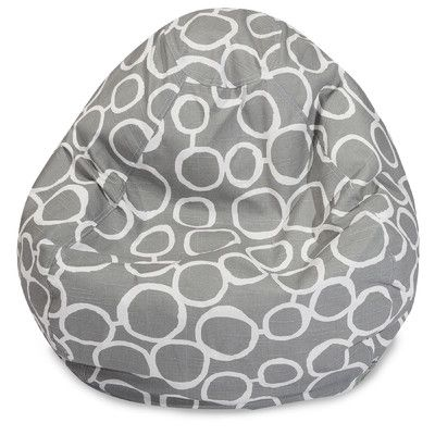 Fusion Classic Bean Bag Chair Color: Gray - http://delanico.com/bean-bag-chairs/fusion-classic-bean-bag-chair-color-gray-640360130/