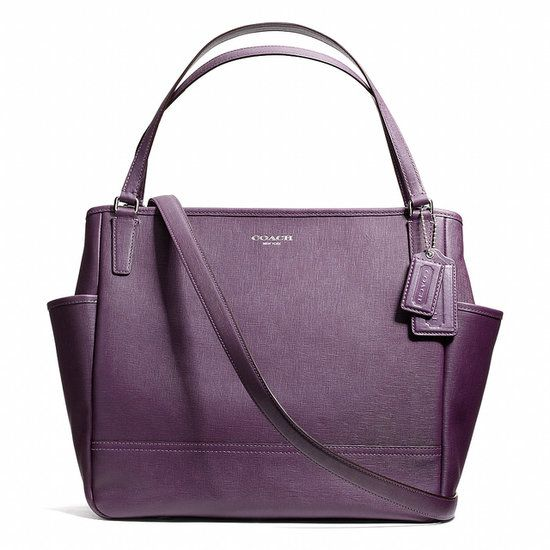 I'd totally be the type of mom to carry a saffiano leather diaper bag :D