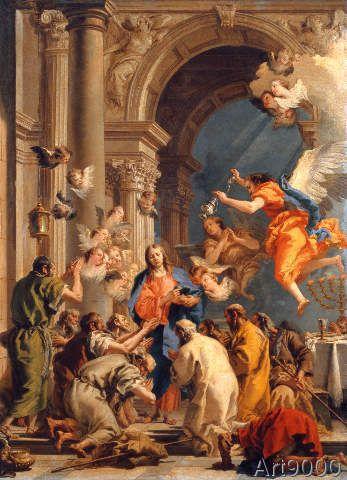 Giovanni Domenico Tiepolo - Establishment of the Last Supper