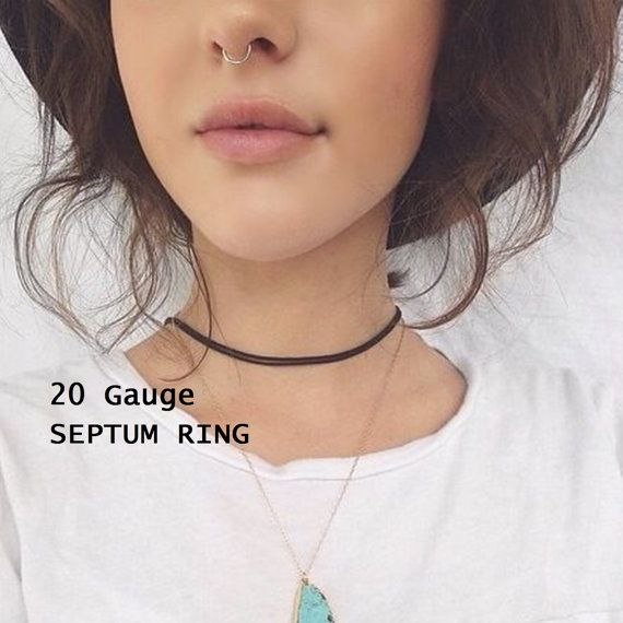 Small Silver Septum Ring, Septum Hoop Ring, Custom Size - 6mm or 8mm, Body Jewelry  ♦High quality fashion, style and sophisticated service, all at