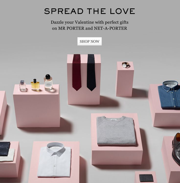 Spread The Love: Dazzle your Valentine this year with perfect gifts on MR PORTER and NET-A-PORTER. Shop now