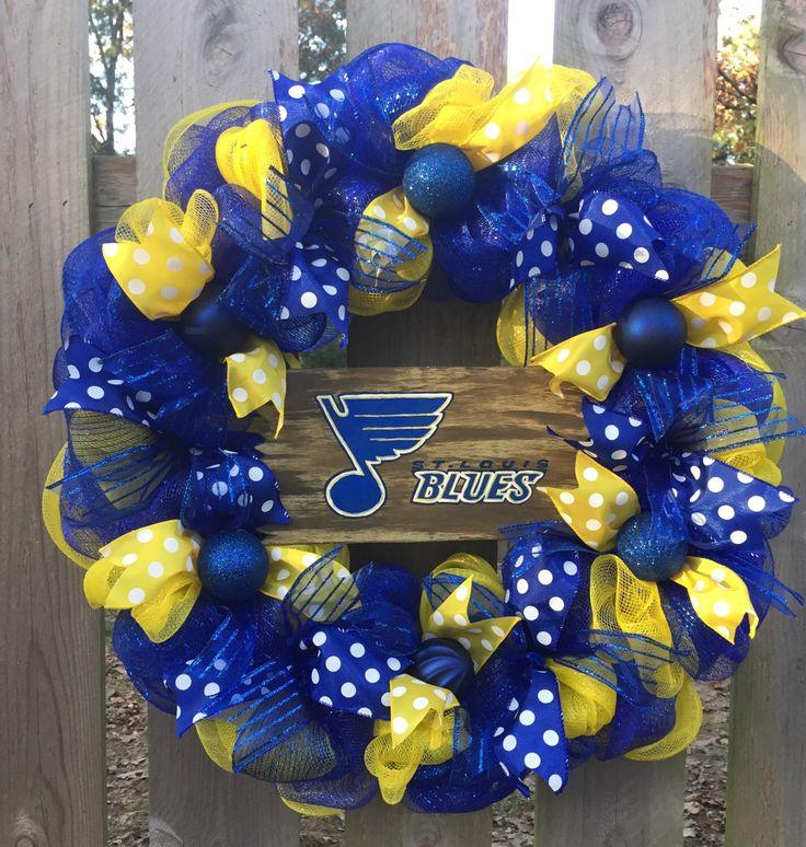 A personal favorite from my Etsy shop https://www.etsy.com/listing/487033485/st-louis-blues-wreath-stl-blues-saint