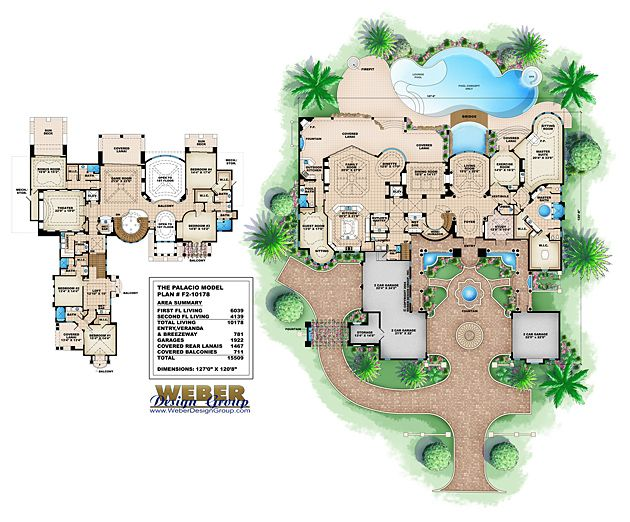 Monster Floor Plan | Palacio House Plan By Weber Design Group
