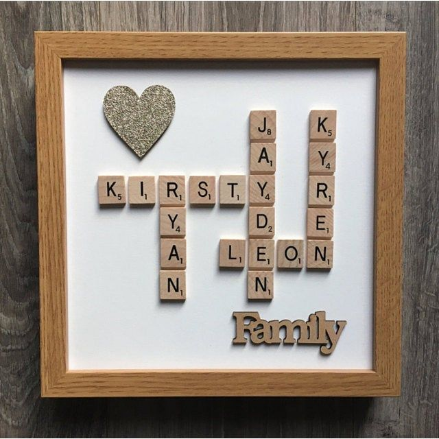 10x10 White Black Wooden Frame Plastic Wooden Scrabble Art Picture Wooden Mr Mrs Heart Personalised Wedding Anniversary Engagement Scrabble Art Deep Shadow Box Frame