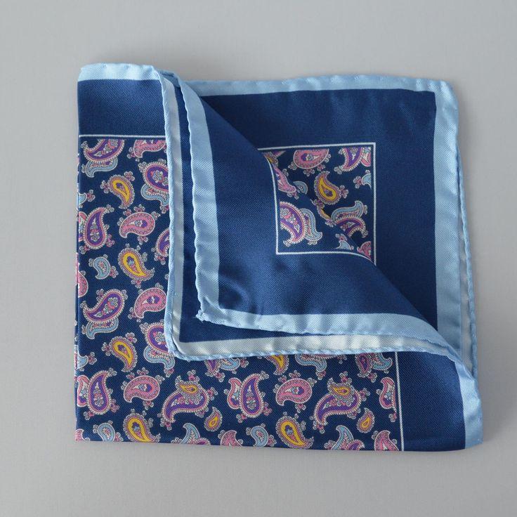 Pañuelo Azul dibujos Cachemir