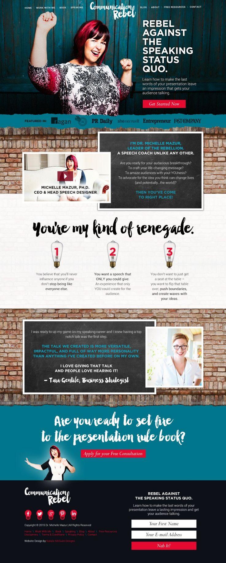 Dr. Michelle Mazur of Communication Rebel: Speaker Coach: Website Design