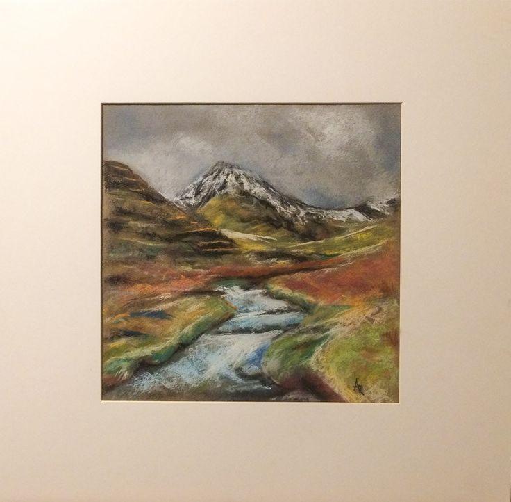 https://flic.kr/p/Sa3aAu | Cumbria / view on Scafell Pike | drawing by soft pastels / 30x30cm