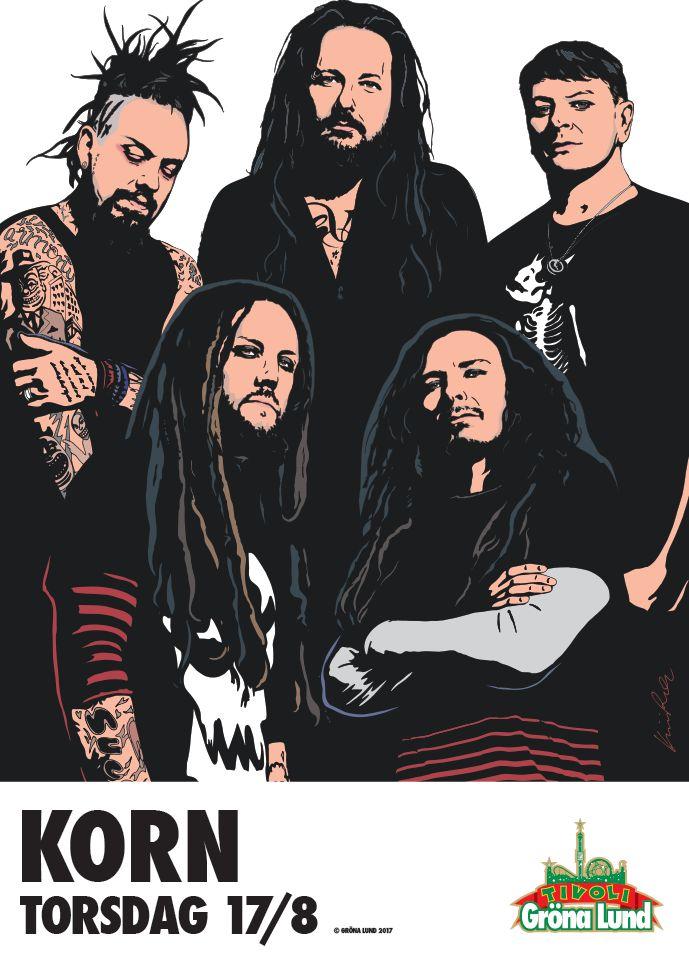 Korn Stockholm Sweden Grönalund 17 Aug 2017