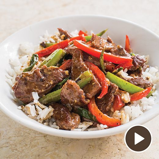 Beef Stir-Fry with Black Pepper Sauce   FOOD   Pinterest   Beef ...