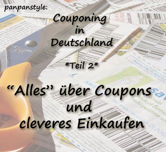 panpanstyle: Couponing in Deutschland - Teil 2: Wissenswertes über Coupons und cleveres Einkaufen