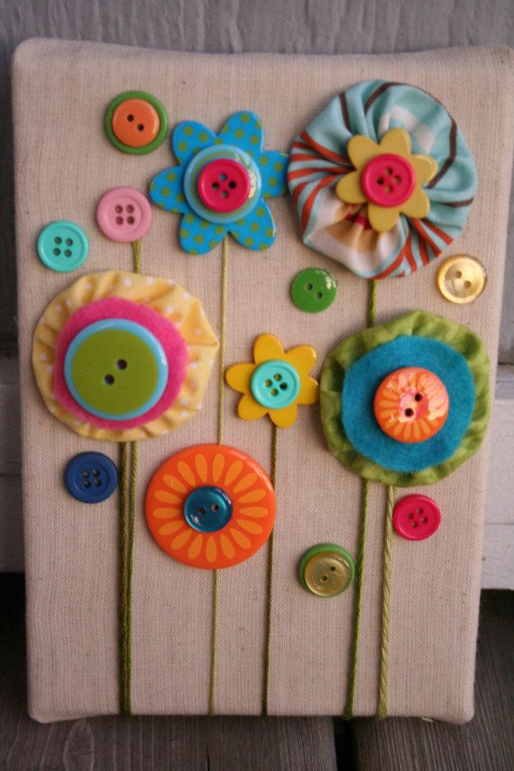 Button Flower Garden Wall Art Love This I Wanna Do This
