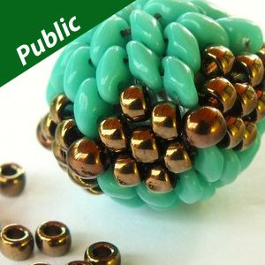 Free Pdf - Large beaded bead with superduos and matubos   ~ Seed Bead Tutorials