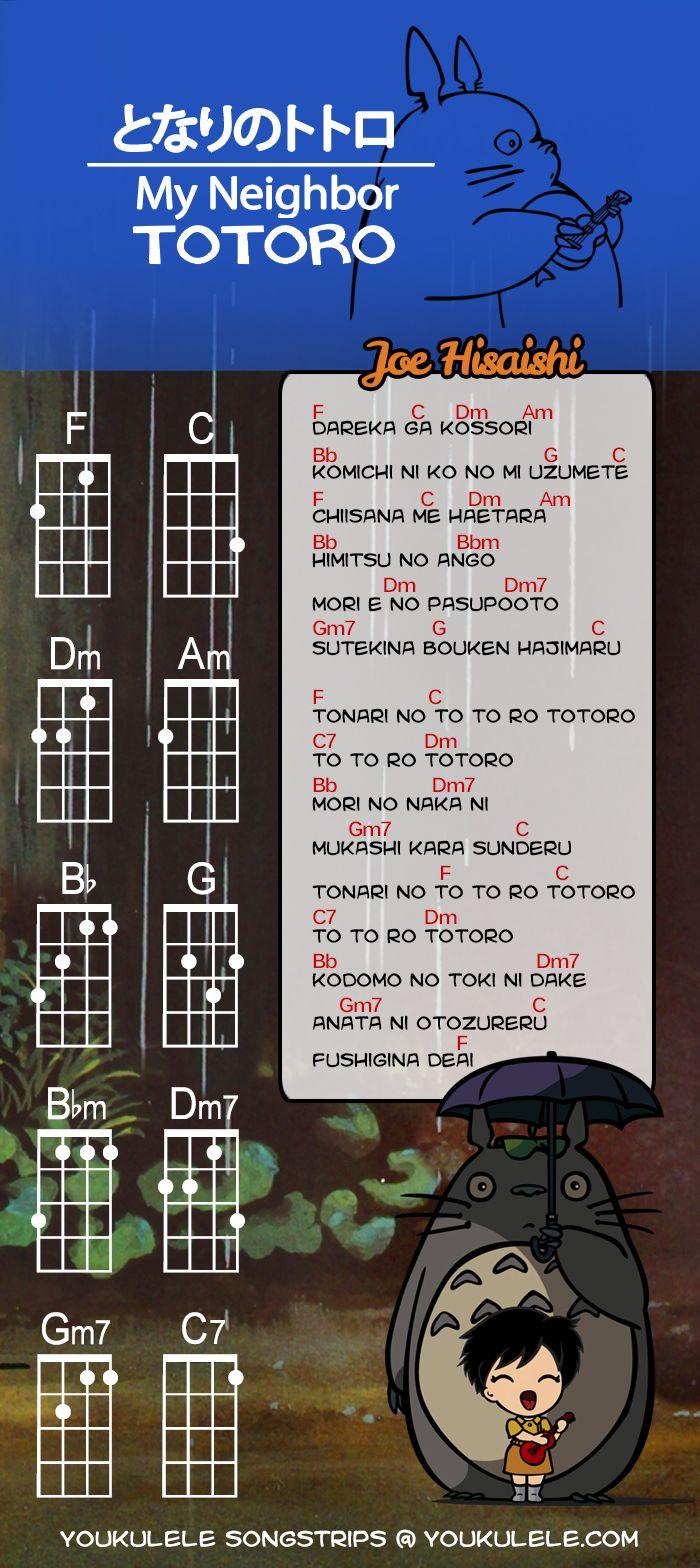 30 best music ukulele lessons images on pinterest music joe hisaishi my neighbor totoro tonari no totoro youkulele hexwebz Image collections
