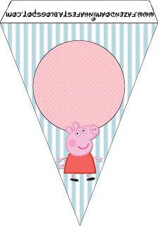 Fazendo a Minha Festa!: Peppa Pig - Kit Completo com molduras para convites, rótulos para guloseimas, lembrancinhas e imagens!: Peppa Pigs, Paper Pigs, Frame For, Birthday Parties, To Treat, Parties Ideas, Free Printables, Print