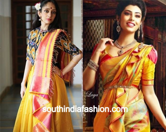 Saree drape styles pictures