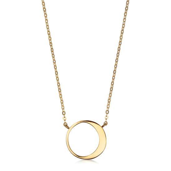 Złoty Naszyjnik - Eclipse, 449PLN www.YES.pl/53836-eclipse-zloty-naszyjnik-ZW-Z-Z12-N45-CA10249 #jewellery #gold #BizuteriaYES #shoponline #accesories #pretty #style
