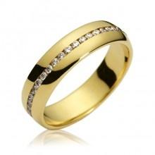 Coleção Alianças Exclusivas Amsterdam Sauer | Aliança Destino com Diamantes Amsterdam Sauer | em ouro amarelo e branco18k