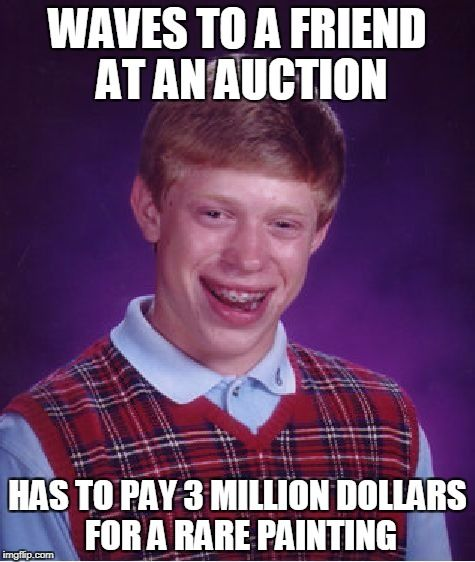 Bad Luck Brian auction