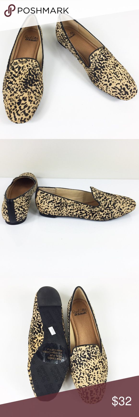 NWOB DR SCHOLL'S REAL FUR LEOPARD PRINT LOAFERS NWOB DR SCHOLL'S REAL FUR LEOPARD PRINT DRIVING LOAFERS FLATS in size 7. Brand new without box, absolutely flawless, made with real fur. Make an offer! Dr. Scholl's Shoes Flats & Loafers