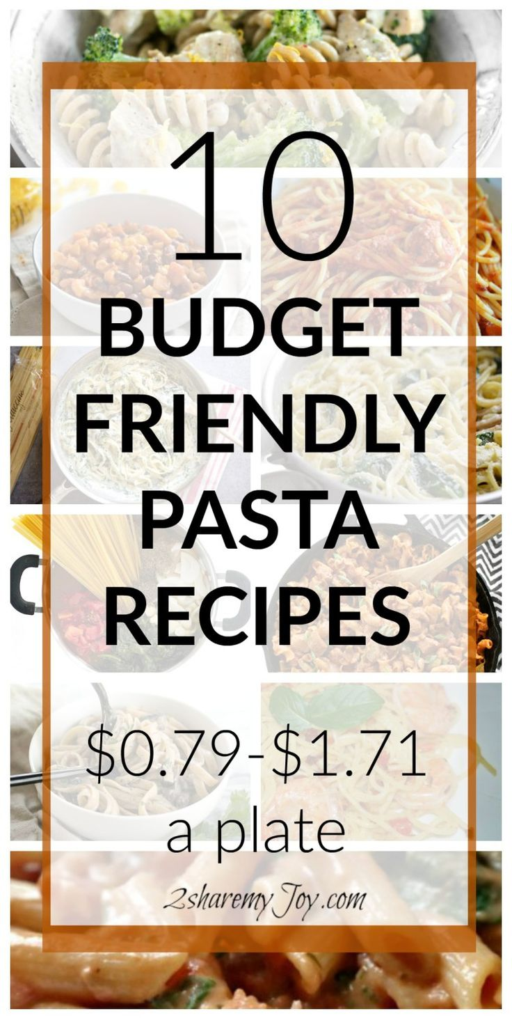 Love frugal pasta meals? Save money on groceries with these 10 Budget Friendly Pasta Recipes . Frugal dinner recipes quick and cheap for 2 or 4 servings.