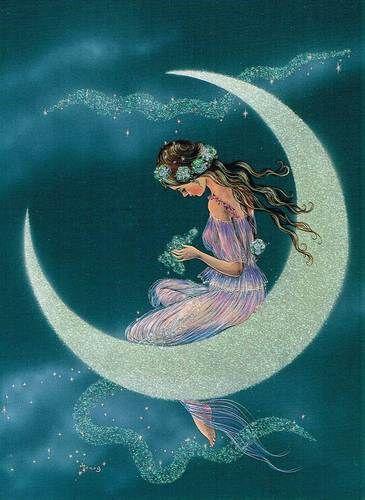 "Good Night!   (no words - ""Fairyland Sparkling – Pigeon Postcard."")"