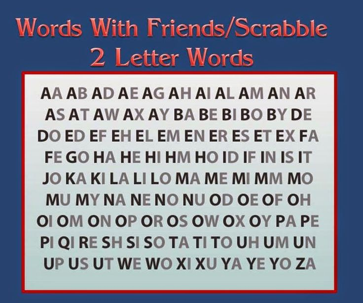 Minch in a Pinch Words with Friends or Scrabble 2 Letter Word