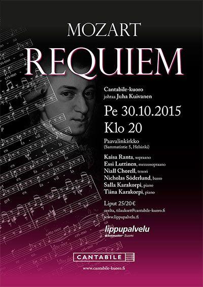 Poster for Cantabile choir Requiem concert, September 2015