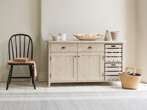 """""""How do you like dem apples?"""" we asked ourselves when we designed this superb sideboard with crafty crates. A lot. A very lot."""