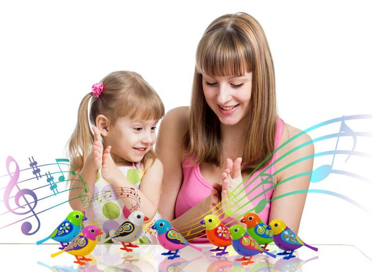 Singing Birds Electronic Pets  Solo or in a Choir Interactive Toys Music Electric 6pcs Battery Included