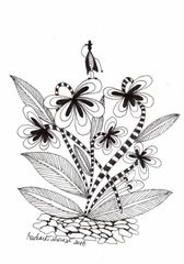 604 Zentangle Spring Flowers