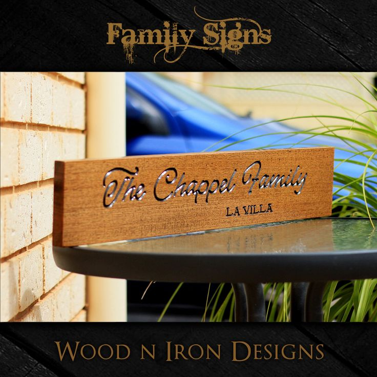 Tasmanian Oak personalised Family signs.